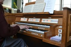 The organ of Boothtown Methodist Church.