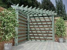 Pergola D'angle, Small Garden Pergola, Corner Pergola, Garden Seating, Corner Patio Ideas, Corner Landscaping Ideas, Small Backyard Gardens, Patio Diy, Casa Patio