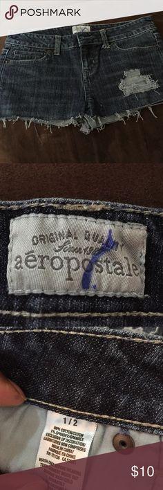 Aeropostale denim mini skirt Aeropostale blue denim mini skirt. Size 1/2. Aeropostale Skirts Mini
