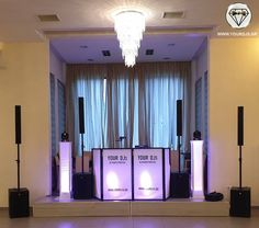 Wedding dj booth for premium wedding in Greece Dj Booth, Dj Equipment, Greece Wedding, Wedding Parties, Wedding Music, Thessaloniki, Party, Green Houses, Wedding Showers
