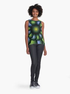 Alternate view of Into the Light Purple and Green Eclectic Geometric Print Sleeveless Top Lavender Shirt, Pretty Outfits, Black Outfits, Blouses For Women, Women's Blouses, Pretty Shirts, Light Purple, Leggings Fashion, Cute Fashion