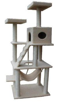 "Amazon.com: New 72"" Large Cat Tower Tree with Condo House Scratcher Post with US Warranty: Pet Supplies"
