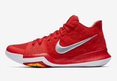 cc5e0e283ae Nike Kyrie 3 Red Suede 852395-601