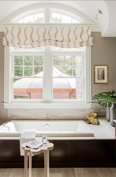 Trendy bathroom window dressing ideas home Ideas Bathroom Window Treatments, Bathroom Windows, Bathroom Blinds, Bathroom Window Dressing, Kitchen Window Valances, White Blinds, Shingle Style Homes, Modern Home Furniture, Window Dressings