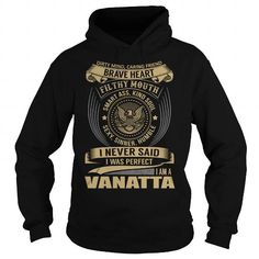 Cool VANATTA Last Name, Surname T-Shirt T shirts