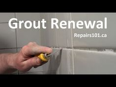 Bathroom Makeovers Youtube tiny bathroom makeover - day 2 | polyblend grout renew, grout