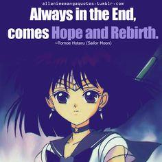 Sailor Saturn inspirational quote