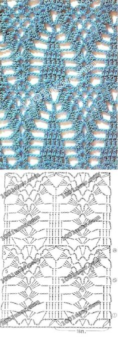 what a delightful crochet stitch!  This would make a gorgeous shawl.