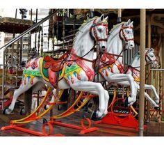 ۞ ۩ binghamton-new-york-carousel. Binghamton New York, Merry Go Round Carousel, Carosel Horse, Carrousel, Wooden Horse, Painted Pony, Beautiful Horses, Floral Prints, Rocking Horses
