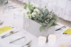 concrete wedding centrepiece - brides of adelaide