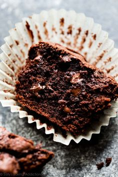 You haven't had a chocolate chip muffin until you've made these triple chocolate muffins! This recipe is so simple and does not require a mixer!