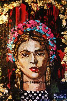 Vintage Frida Kahlo by Spring Fine Art Canvas by windyspringsart, $75.00