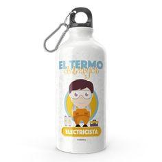 Termo - El termo del mejor electricista, encuentra este producto en nuestra tienda online y personalízalo con un nombre. Water Bottle, Drinks, Carton Box, Store, Crates, Drinking, Beverages, Water Bottles, Drink