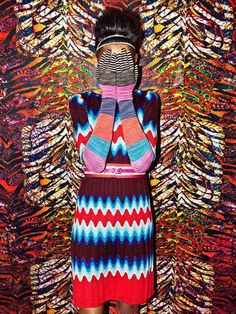 Ooooo...those colors!! Patterns!! MISSONI PEEK-A-BOO