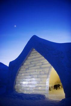 Arctic Snow Hotel in Rovaniemi in Lapland, Finland