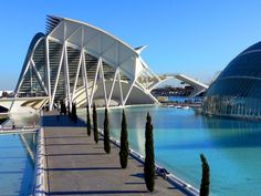 The City of the Arts and Sciences of Valencia.
