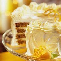 Pecan Cake with Tangerine Cream Filling Recipe - I added 2 tsp cinnamon, 1 tsp ginger, tsp nutmeg, and tsp cloves Delicious Cake Recipes, Yummy Cakes, Yummy Food, Cream Filling Recipe, Different Kinds Of Cakes, Pecan Cake, Cake Fillings, Gluten Free Treats, Take The Cake