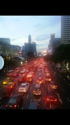 Bankok at evening .