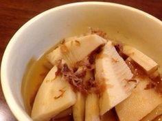 *たけのこの煮物*おかか入り♪の画像 Home Recipes, Asian Recipes, Ethnic Recipes, Junk Food, Japanese Food, Cabbage, Food And Drink, Gluten Free, Banana