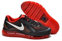 Cheap Nike Air Max 2014 Black Red White Men's Running Shoes