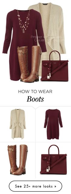 """Untitled #1732"" by casuality on Polyvore featuring Dorothy Perkins, Repeat, Naturalizer, Yves Saint Laurent and Betsey Johnson"