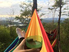 morning greeting from lawangan hill, riam kanan, kalsel. #hammocking #camping #morning #hiking #travelling #southborneo