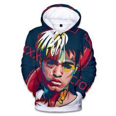 2018 Rapper Xxx Tentacion Cotton Hoodies Sweatshirts Hip Hop Singer Xxxtentacion Uniform Mens Hoodies Hip Hop Sweatshirt-Sweaters-Think What You Think Printed Sweatshirts, Hooded Sweatshirts, Cotton Hoodies, Men's Hoodies, Cheap Hoodies, Rapper, Totoro, Sweater Weather, Xxxtentacion Hoodie