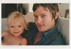 Norman & baby Mingus... with N R for a dad and a stunning supermodel mom, Mingus is gonna be sooo pretty!