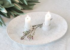 Candle plate by PetraLundsLera ceramics www.petralundslera.se Picture by Caroline Bodehed