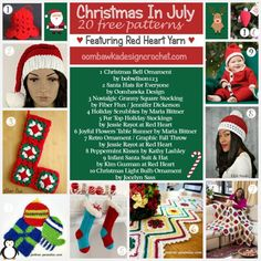 ♥ Christmas in July! Featuring Red Heart Yarn ♥ http://oombawkadesigncrochet.com/2016/07/%e2%99%a5-christmas-in-july-featuring-red-heart-yarn-%e2%99%a5.html
