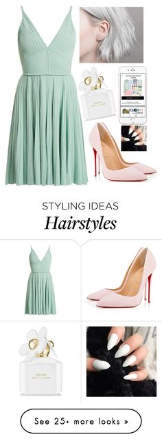 """Untitled #6391"" by hannahmcpherson12 on Polyvore featuring Elie Saab, Christian Louboutin and Marc Jacobs"