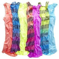 trends: neon; arizona neon tank tops
