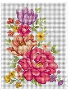 123 Cross Stitch, Easy Cross Stitch Patterns, Cross Stitch Heart, Cross Stitch Cards, Simple Cross Stitch, Cross Stitch Flowers, Cross Stitch Designs, Cross Stitching, Cross Stitch Embroidery