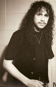 Kirk Hammett backstage