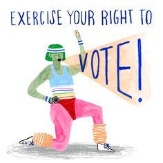 Lilla Rogers, Right To Vote, Vernon, Creative Inspiration, New Art, Art For Kids, Illustration Art, Illustrations, Lettering