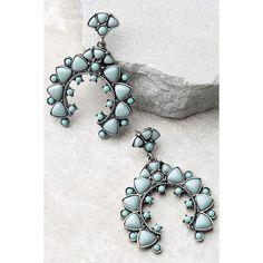 Energy Healer Turquoise Earrings (5.134 KWD) ❤ liked on Polyvore featuring jewelry, earrings, blue, earring jewelry, turquoise earrings, long earrings, turquoise jewellery and blue turquoise earrings