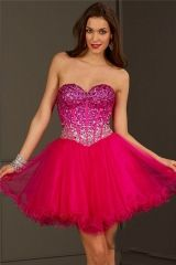 Wholesale 2016 new stunning Sweet 16 Dress fuchsia tulle short prom dress with ombre beading Style 3635 http://www.topdesignbridal.com/wholesale-2016-new-stunning-sweet-16-dress-fuchsia-tulle-short-prom-dress-with-ombre-beading-style-3635_p3365.html