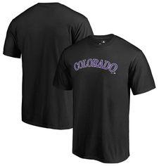 Colorado Rockies Fanatics Branded Team Wordmark T-Shirt - Black