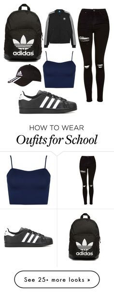 """""""school//adidas//drake"""" by nikolinacassar on Polyvore featuring Topshop, adidas, WearAll, adidas Originals, DRAKE, views and 60secondstyle"""