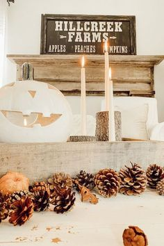 fall decor, home decor, affordable decor, rustic decor, farmhouse decor, farmhouse inspo, decorating for fall, fall 2020, interior design, interior decorating, coffee table inspo, tablescape decor, home DIY, #homedecor, decor on a budget, affordable decor, rustic farmhouse vibes, homes we love, better homes and gardens, country living magazine, pumpkin decor, candle decor, Rustic Fall Coffee Table - Deb and Danelle