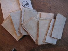 50 pcs of 2 x 3 Vintage Blank Business Card/ Distressed Look Business Card/ Coffee Stained Business Card/ Handmade Recycled Blank Card