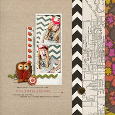 #scrapbook page by Krista Sahlin