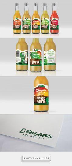 Benson Fruit Juice label design by Great Depths (UK) - http://www.packagingoftheworld.com/2016/07/benson-fruit-juice.html