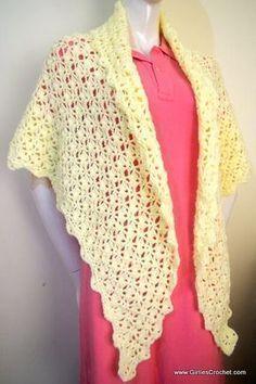 free crochet pattern, carol prayer shawl