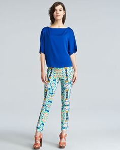 Piped Racer Pants by Milly at Neiman Marcus.