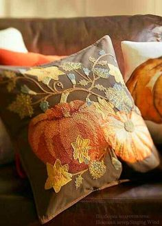 Thanksgiving Blessings, Lovely Smile, Autumn Cozy, Best Seasons, Cozy Cottage, Hand Embroidery, Throw Pillows, Creative, Cottages