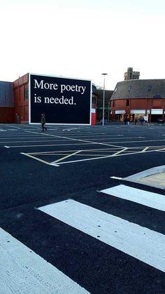 So true, bring back poetry