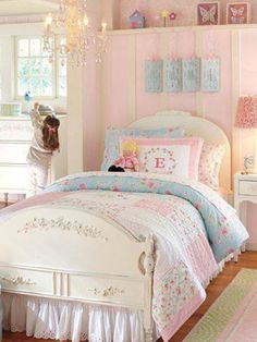 Pretty Pastel  girls room ....lovely
