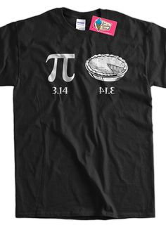Funny Math T-Shirt Geek Pi 3.14 Pie T-Shirt Gifts for Dad Screen Printed T-Shirt Tee Shirt Mens Ladies Womens Youth Kids