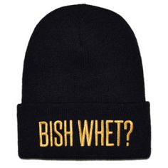 0e1981b1ac4 bish whet black and gold beanie Gold Hats